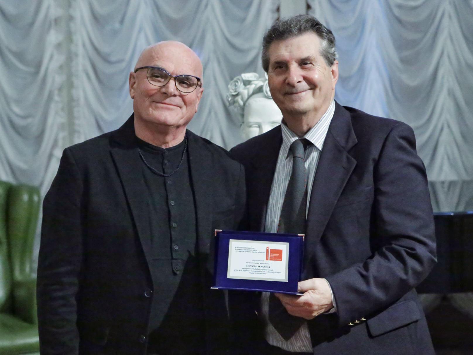 Giovanni Scagnoli premiato alla Biennale di Venezia